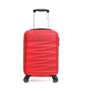 Červený cestovný kufor na kolieskach Hero Wave