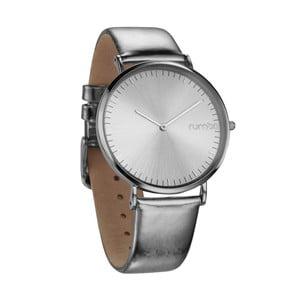 Kožené strieborné hodinky Rumbatime Chelasea Lights