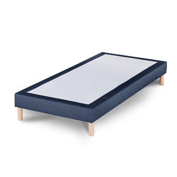 Tmavomodrá posteľ Stella Cadente Sommier, 90x200cm