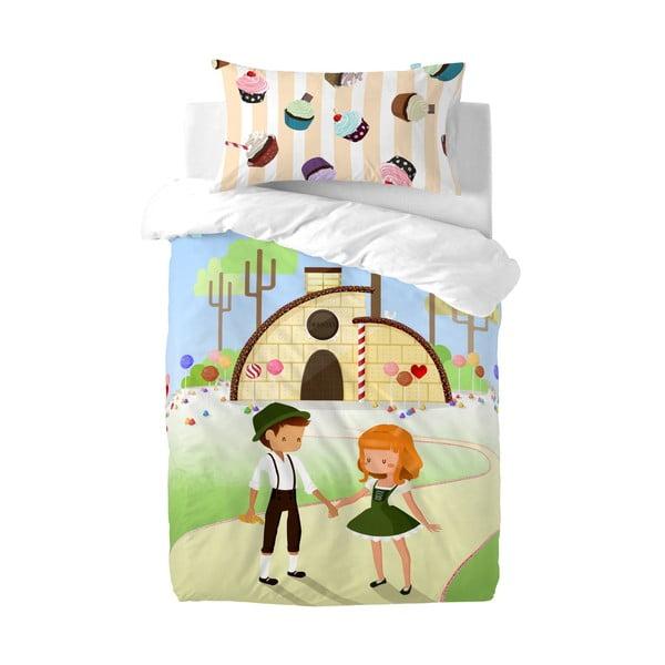 Obliečka na paplón a vankúš Mr. Fox Candy House, 115 x 145 cm