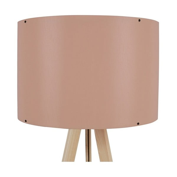 Stojacia lampa so svetloružovým tienidlom Aiden