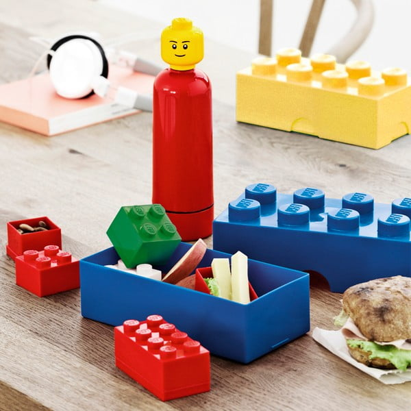 Fľaša Lego, svetlo modrá