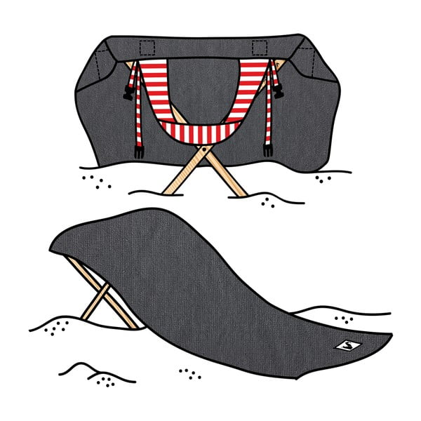 Skladacie plážové lehátko a osuška v jednom Sun Basalt