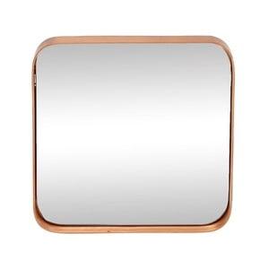 Zrkadlo v ráme s medenou farbou Hübsch Tovi, 31 x 31 cm