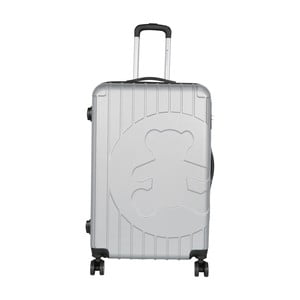 Svetlosivý cestovný kufor LULU CASTAGNETTE Philip, 107 l
