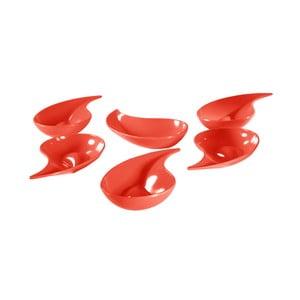 Sada 6 červených mištičiek Entity