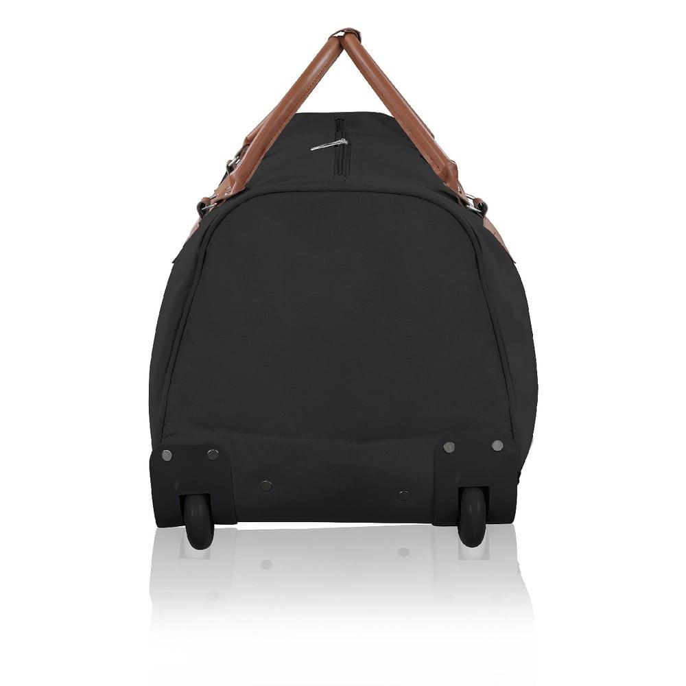 e3a5a8492cdbb Čierna cestovná taška na kolieskach GENTLEMAN FARMER Oslo, 93 l | Bonami