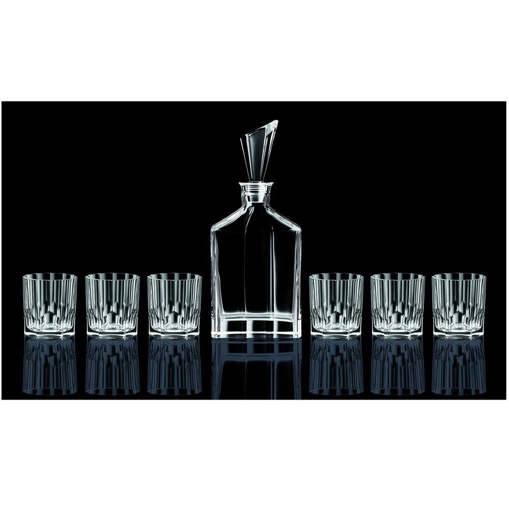 Set karafy a 6 pohárov na whisky z krištáľového skla Nachtmann Aspen Whisky Set