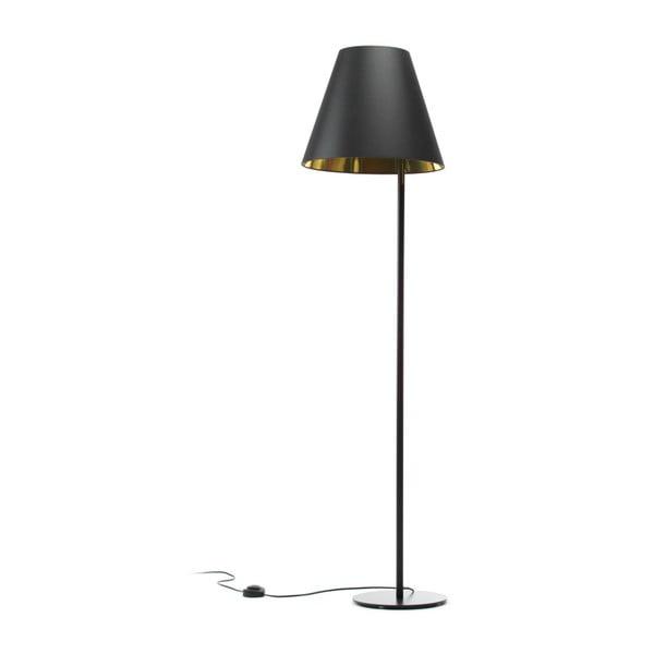 Čierno-zlatá stojacia lampa 4room Book, 158 cm