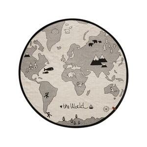 Bavlnený koberec OYOY The World, ⌀ 135 cm