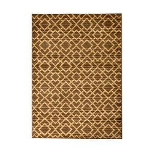 Hnedý vysokoodolný koberec Floorita Inspiration Garro, 140 x 195 cm