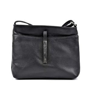 Čierna kožená kabelka crossbody Roberta M Anna Julie