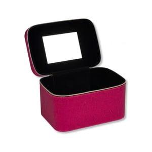 Kozmetická taštička s trblietkami v ružovej farbe so zrkadielkom Tri-Coastal Design Pretty