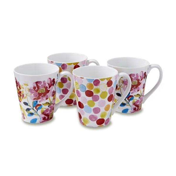 Sada 4 hrnčekov Cooksmart England Floral Romance