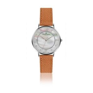 Dámske hodinky s koňakovohnedým remienkom z pravej kože Frederic Graff Silver Liskamm Lychee Ginger