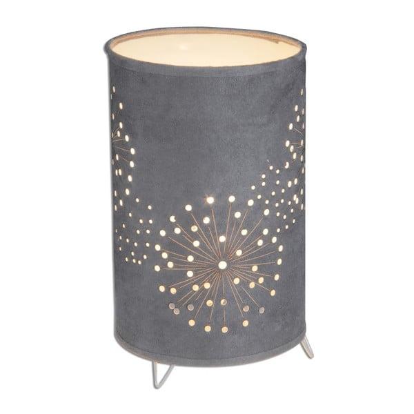 Tmavosivá stolová lampa Naeve Löwenzahn