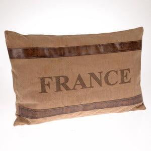 Vankúš France Beige, 60x40 cm