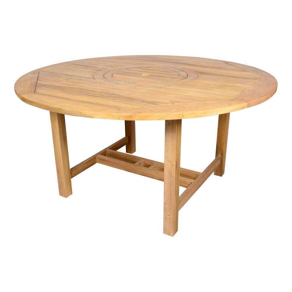 Záhradný jedálenský okrúhly stôl z tíkového dreva Ezeis Sun, ø 150 cm