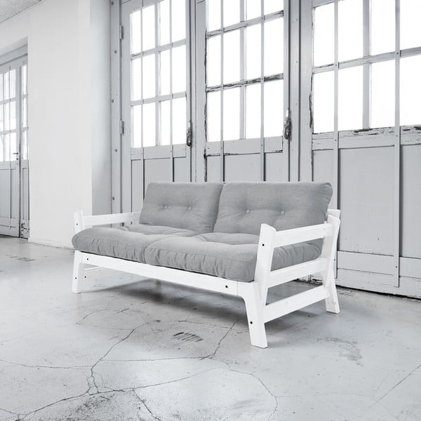 Rozkladacia pohovka Karup Step White/Light Grey