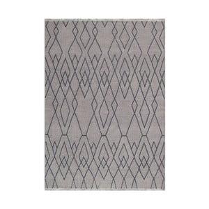 Modro-hnedý vlnený koberec LinieDesign Omo,140x200cm