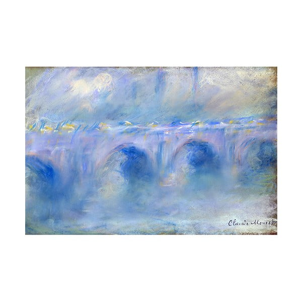 Obraz Claude Monet - Le Pont de Waterloo, 45x30 cm
