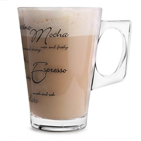 Sada 2 pohárov Script Latte, 240ml