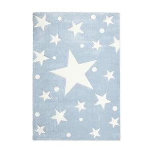 Modrý detský koberec Happy Rugs Star Constellation, 80x150cm