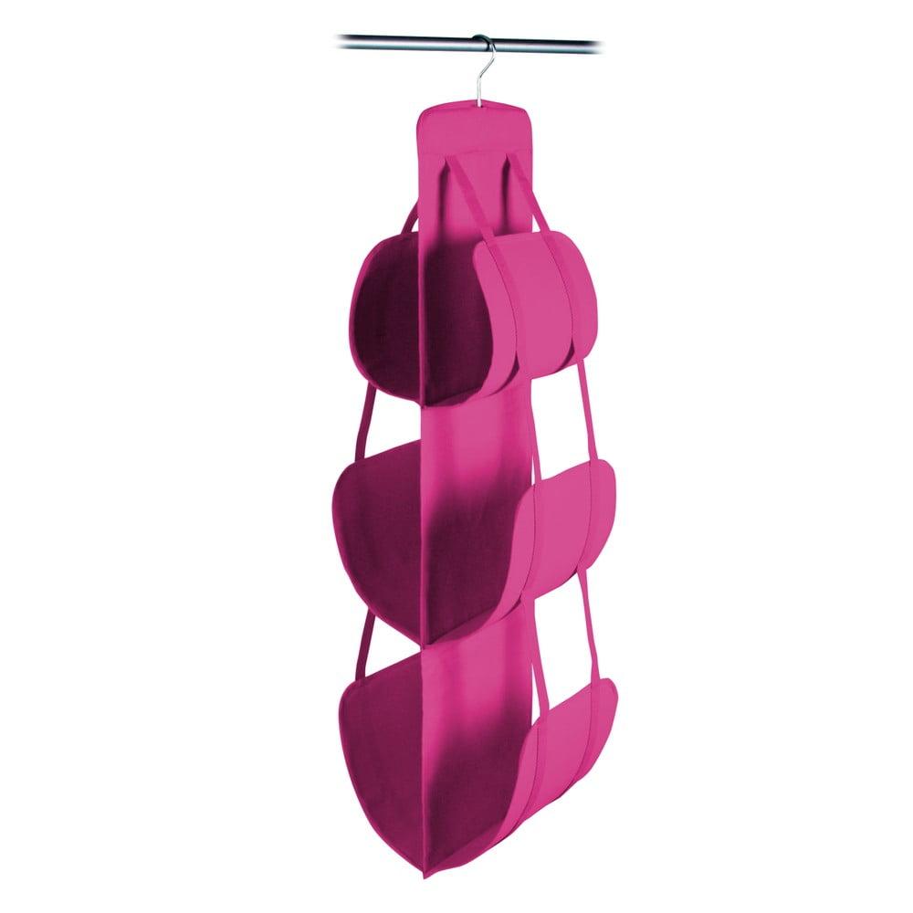 Ružový závesný úložný box na kabelky JOCCA, 105 × 30 cm