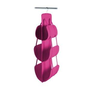 Ružový závesný úložný box na kabelky Jocca