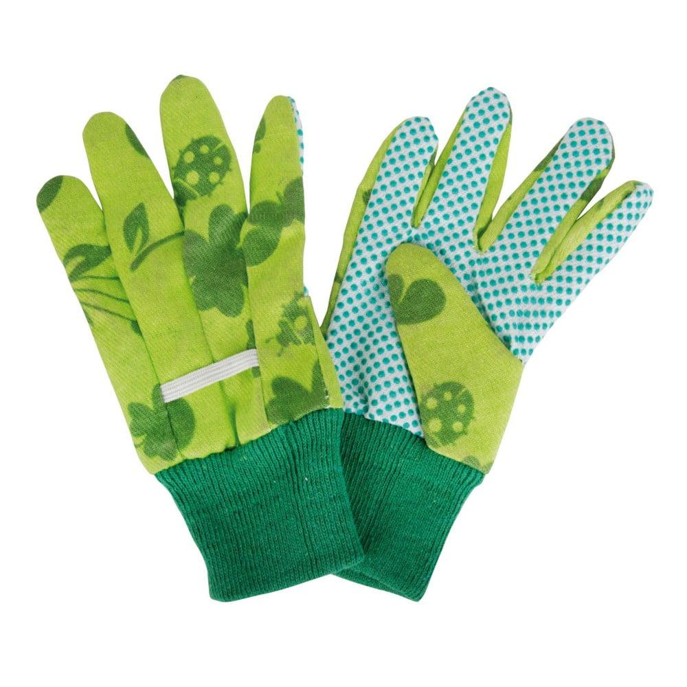 Detské zelené rukavice na záhradu Esschert Design