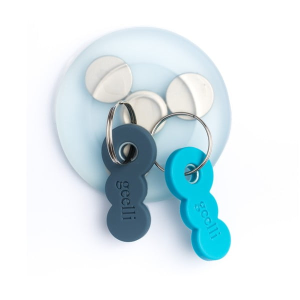 Samodržiaci vešiak na kľúče s magnetom Tiroasegno Light Blue