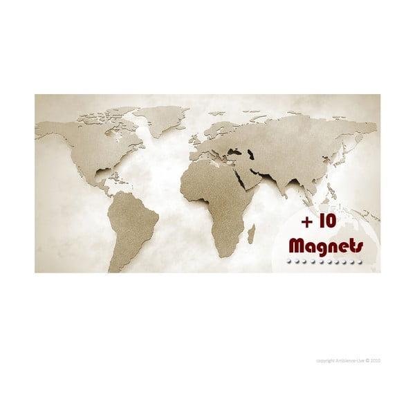 Magnetická mapa sveta Ambiance s magnetami