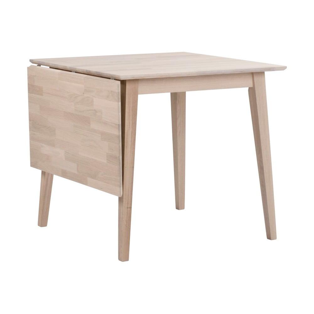 Matne lakovaný sklápací dubový jedálenský stôl Rowico Mimi, 80 x 80 cm