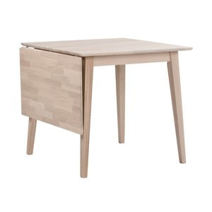 Matne lakovaný sklápací dubový jedálenský stôl Folke Mimi, dĺžka 80-125 cm