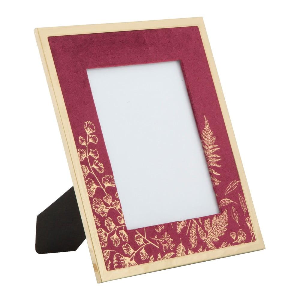 Vínovočervený stolový fotorámik Mauro Ferretti Glam, 15 × 20 cm
