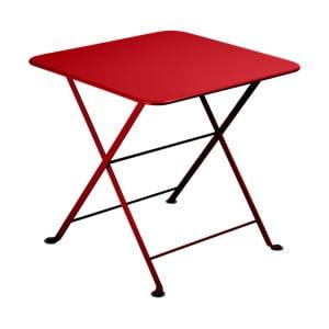 Červený detský skladací kovový stôl Fermob Tom Pouce
