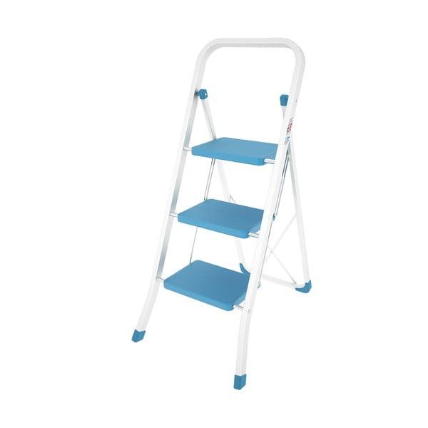 Modrý skladací rebrík Colombo New Scal Stabilo