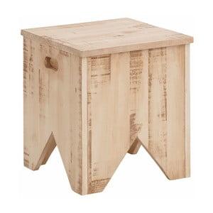 Krémová úložná truhlica z masívneho borovicového dreva Støraa Marilyn