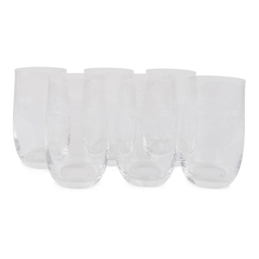 Sada 6 sklenených pohárov Haroula