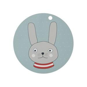Detské silikónové prestieranie OYOY Rabbit, ⌀ 39 cm