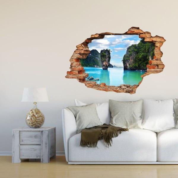 Samolepka Ambiance Landscape Beach Blue Azzuro, 60×90 cm