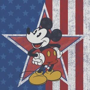 Obraz Pyramid International Mickey Mouse American Star, 40 × 40 cm