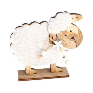 Drevená dekorácia Dakls Easter Happy Sheep, výška 12 cm