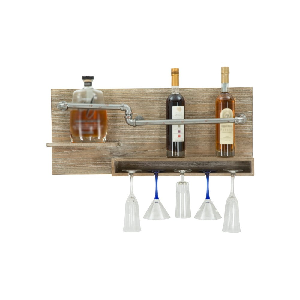 Nástenný držiak na fľašky a poháre Mauro Ferretti Pipe Bar, 30 × 70 cm