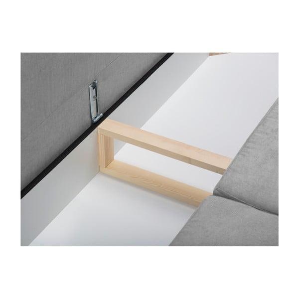 Sivá rozkladacia pohovka s úložným boxom Kooko Home Highlife
