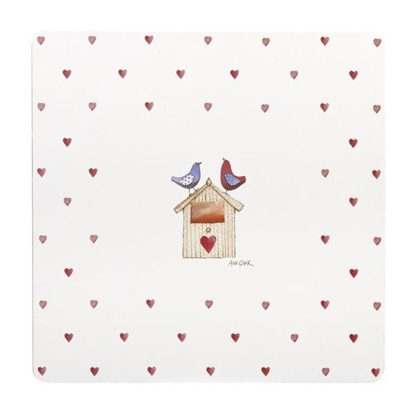 Sada 4 ks prestierania Lovebirds, 29x29 cm