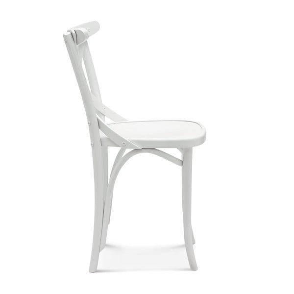 Sada 2 bielych drevených stoličiek Fameg Knud