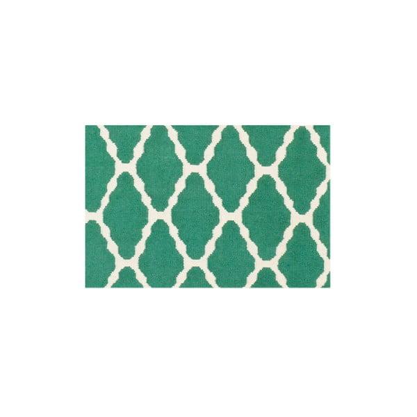 Vlnený koberec Kilim Venus Green, 155x240 cm