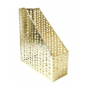 Kovový organizér na dokumenty v zlatej farbe Portico Designs