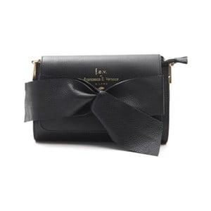 Čierna kožená kabelka f.e.v. by Francesca E. Versace Calima
